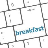 Breakfast word on keyboard key — Stock Photo