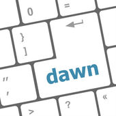 Business concept: computer keyboard with word dawn — Foto de Stock