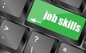 Tangentbord med jobb färdigheter nyckel. affärsidé — Stockfoto