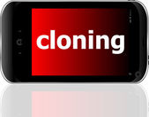 Cloning word on smart mobile phone, business concept — Stock Photo