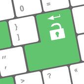 Social media keyboard button — Stock Photo