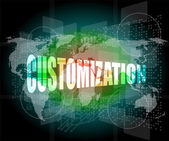 Customization word on digital binary touch screen — Stock Photo