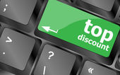 Top discount concept sign on computer key — Stock Photo