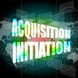 Stock Photo: Acquisition initiation word on digital screen. financial background
