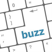 Buzz word on computer keyboard key — Stock Photo