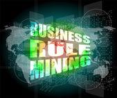 Business rule mining interface hi technology — Stock Photo