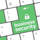 Business security key on the keyboard of laptop computer — Stock Photo