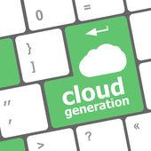 Bulut üretimi kelimeler kavramı klavye düğme tarih — Stok fotoğraf