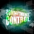 Commitment control on digital touch screen — Stock Photo #41971983