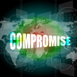 Stock Photo: Business concept: word compromise on digital touch screen