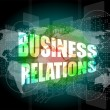 Stok fotoğraf: Business relations interface hi technology, touch screen