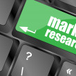 Stock Photo: Key with market research text on laptop keyboard, business concept