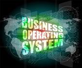デジタル タッチ画面上のビジネス オペレーティング システム単語 — ストック写真