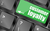 Button keypad key with customer loyalty word — Photo
