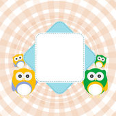 Cartoon empty paper template of an owl — Stock Photo