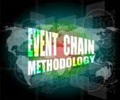 Event chain methodology word on business digital touch screen — Stock Photo