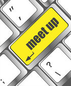Meeting (meet up) sign button on keyboard with soft focus — Foto de Stock