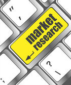 Market research word button on keyboard, business concept — Stock Photo