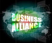 Business concept, business alliance digital touch screen interface — Stock Photo