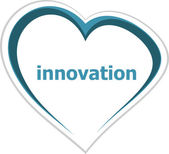 Business concept, innovation word on love heart — Stock Photo