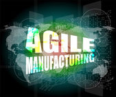 Business concept, agile manufacturing on digital touch screen interface — Stock Photo