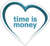 Business concept, time is money words on love heart — Stockfoto