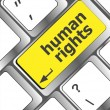 Arrow button with human rights word — Stock Photo