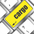 Cargo word on laptop computer keyboard key — Stock Photo