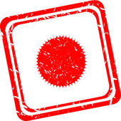 Sun sign icon. Solarium symbol. Heat button. Red stamp — Stock Photo