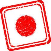 Sun sign icon. Solarium symbol. Heat button. Red stamp — Stock Photo