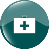 Doctor Bag Health Medical Icon Isolated on white — Stock Photo