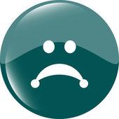 Sad icon (button) isolated on white background — Stock Photo