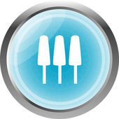 Ice Cream Icon on Internet Button Original Illustration — Stock Photo