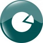Graph Icon on Round Button isolated on white — Stock Photo