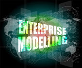 Enterprise modelling, interface hi technology, touch screen — Stock Photo