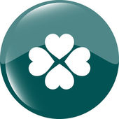 Button with heart set sign, icon isolated on white — ストック写真