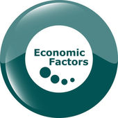 Economic factors web button, icon isolated on white — Foto Stock