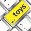 Toys word on computer keyboard pc key — Stock Photo #42831429