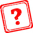 Question mark red stamp sign icon. Help symbol. FAQ sign — Stock Photo