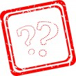 Question mark red stamp sign icon. Help symbol. FAQ sign — Stock Photo #42833365
