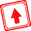 Arrow sign icon. Next button. Navigation symbol. red stamp isolated — Stock Photo