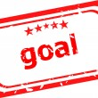Goal red Rubber Stamp over a white background — Stock Photo