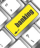 Tastaturtaste mit eingabetaste taste banken, business-konzept键盘键和 enter 按钮银行、 商业概念 — Stockfoto
