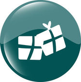 Blue icon with gift boxes set, holiday concept — Stock Photo