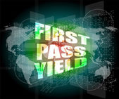First pass yield on touch interface hi technology — Stock Photo