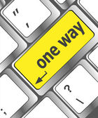 One way button on computer keyboard pc key — Stock Photo