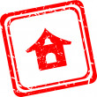 Smart home sign icon. Smart house button. Remote control. Red stamp — Stock Photo