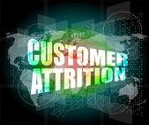 Kunden utnötningskrig ord på digital skärm med världskarta — Stockfoto