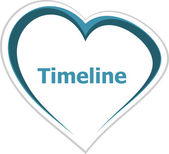 Marketing concept, timeline word on love heart — Stock Photo