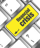 Financial crisis key showing business insurance concept, business concept — Photo